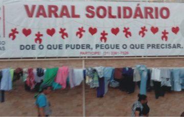 Ação que visa a ajudar as pessoas mais necessitados com roupas, calçados e outros acessórios.